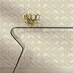 Stripped Hexagon Repositionable and Removable Peel and Stick Wallpaper