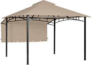 Garden Winds Replacement Canopy for The 10 x 10 Garden House Gazebo - Standard 350 - Beige