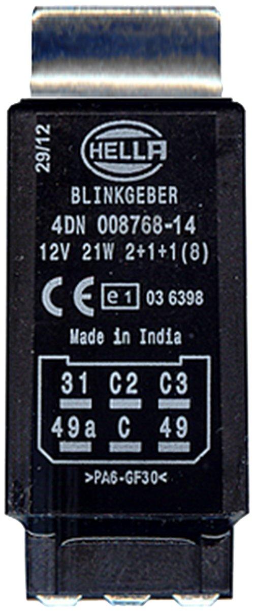 avec accessoires HELLA 4DN 008 768-141 Centrale clignotante 12V