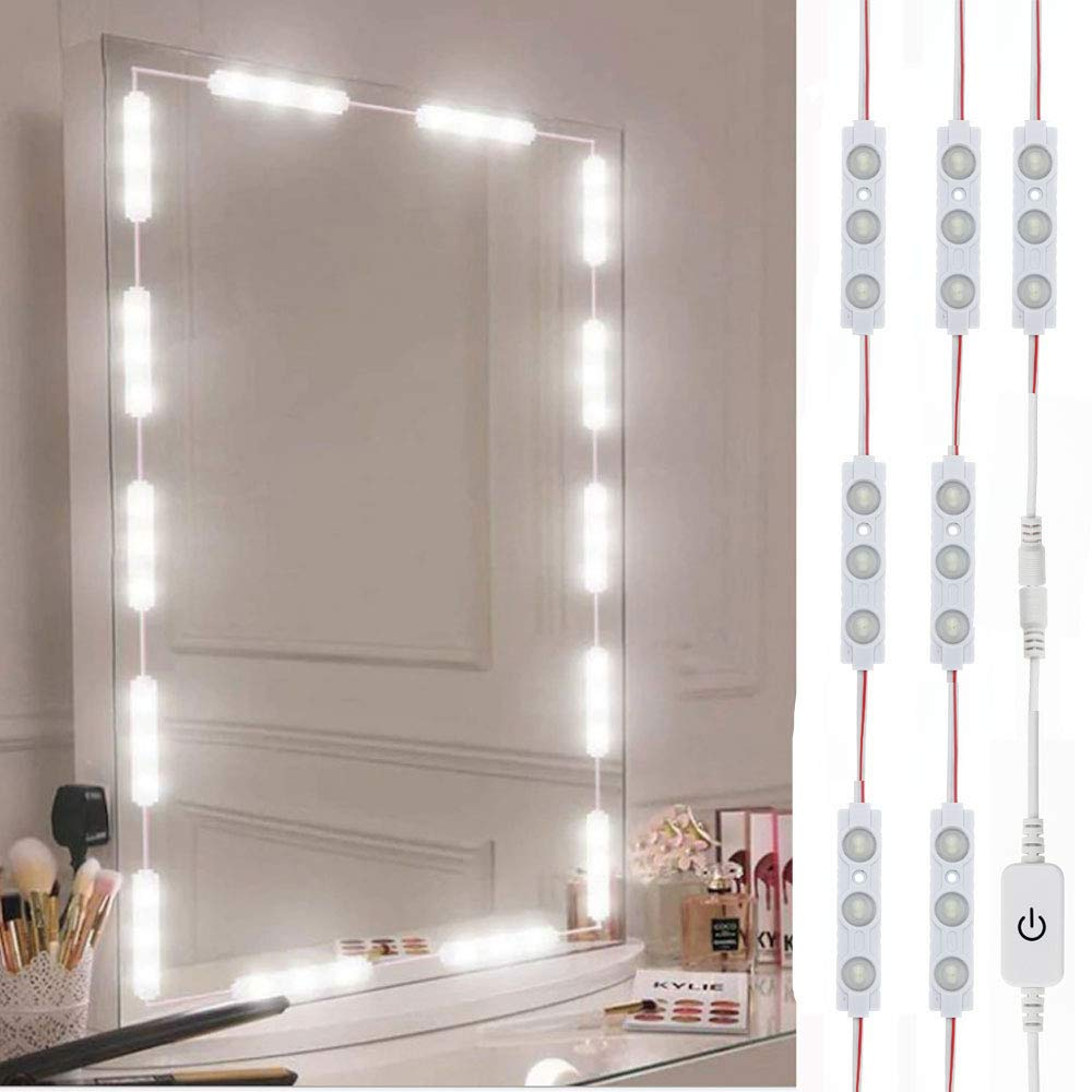 Led Vanity Mirror Lights, Hollywood Style Vanity Make Up Light, 10ft Ultra Bright White LED, Dimmable Touch Control Lights Strip, for Makeup Vanity Table & Bathroom Mirror, Mirror Not Included by LPHUMEX