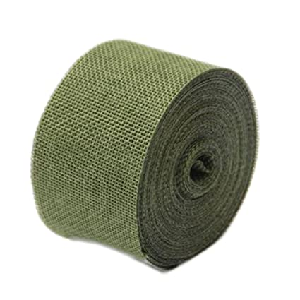 Amazon.com: WeiMay 10M Yard Natural Burlap Craft Linen ...
