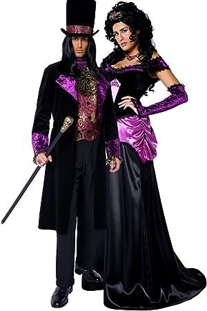 Disfraz largo de vampiro y vampiresa góticos (conde y condesa ...
