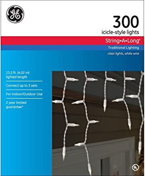 boxes GE Icicle-Style Lights String-A-Long 300 per box Clear white wedding 4