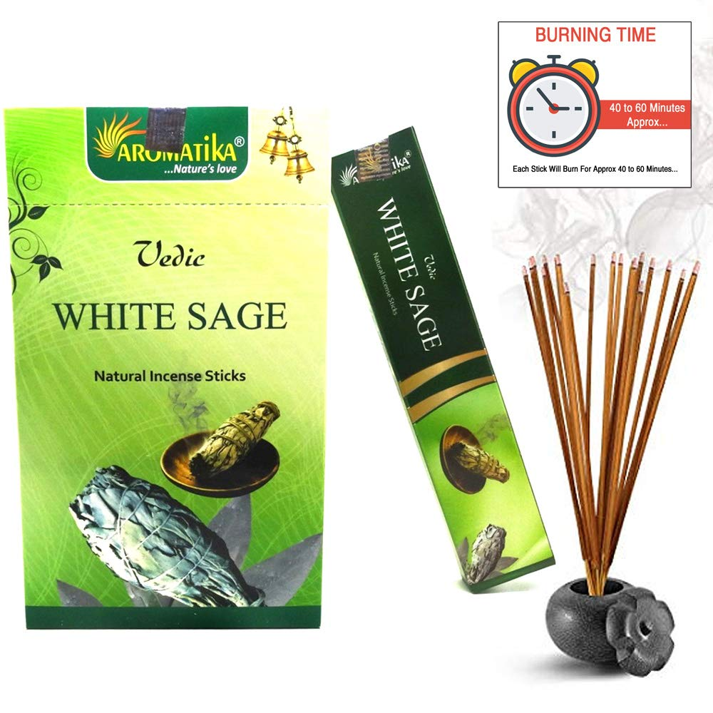 aromatikaホワイトセージ15 gms Masala Incense Sticks Pack of 12 B075FT222P