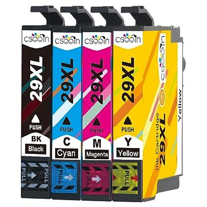 Cseein 4x Reemplazo 29XL Cartuchos de Tinta Alta Capacidad ...