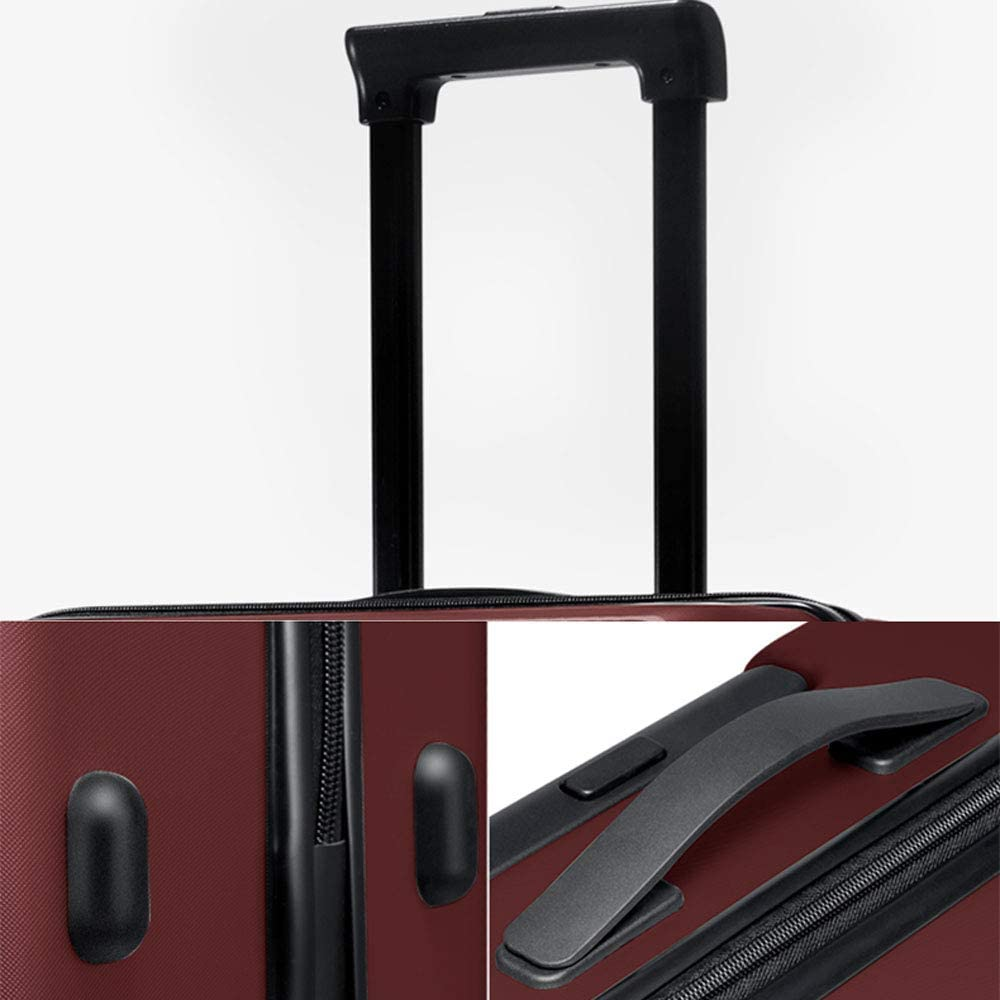 PC ZJ-Trolley Trolley case 2 TSA Customs Lock Stylish Small Fresh Waterproof and wear-Resistant Personality Universal Wheel Student Password Suitcase Honeycomb Texture 3 Colors