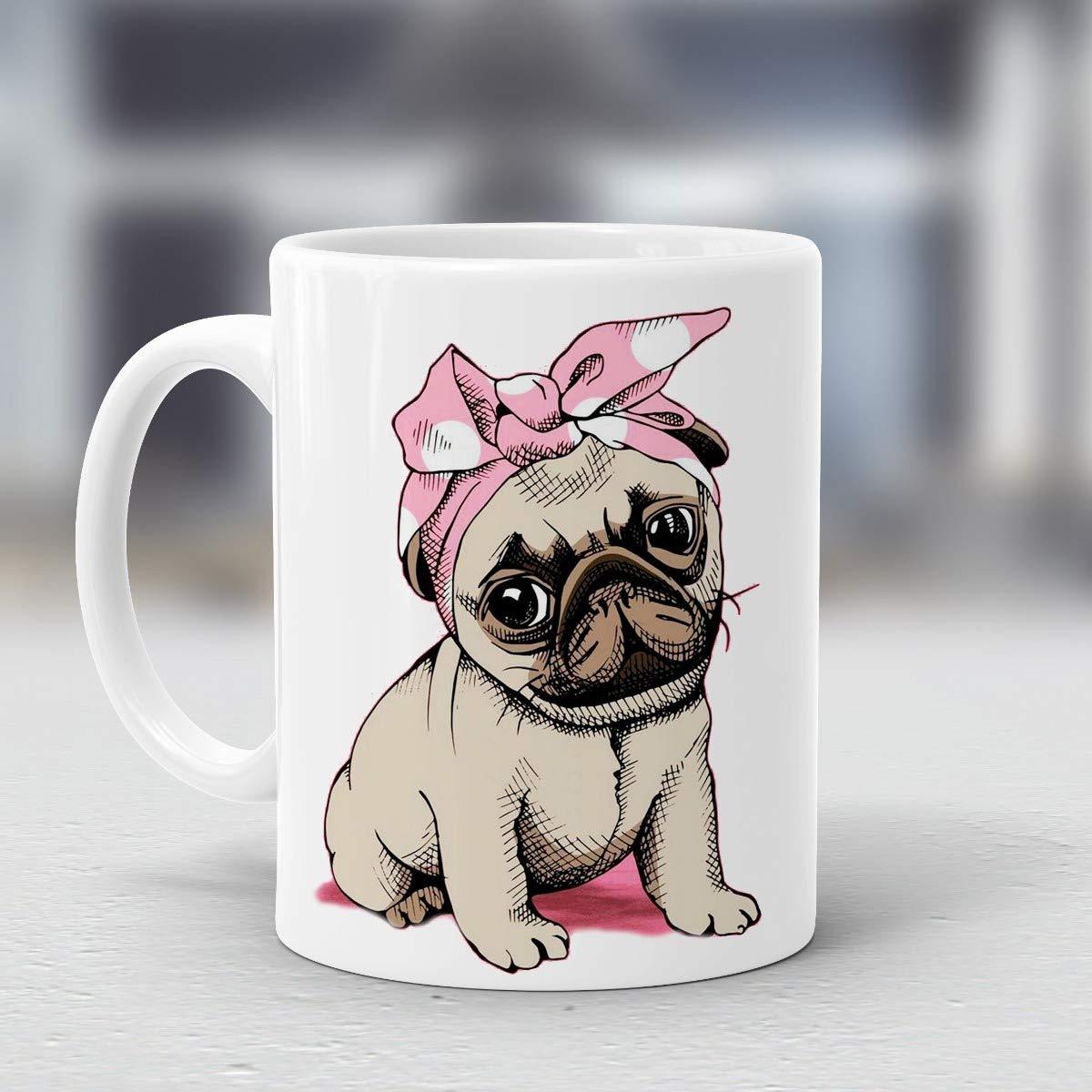 taza de perrita pug