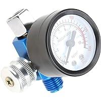 LANTRO JS - 1/4 `` luchtdrukmeter, luchtdrukregelaar, luchtregelaar, aAir Drukregelklep Inlaatdrukmeter Pneumatisch…