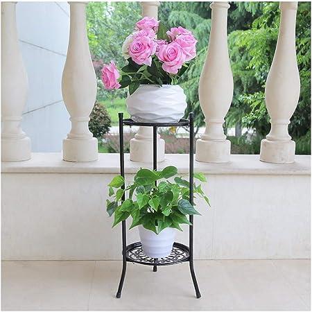 Hyvaluable Soporte para Plantas de Metal En Maceta Planchas de Hierro Apoya el Estante para macetas con Flor hogar, jardín, Patio (Color : Negro, Tamaño : 60cm): Amazon.es: Hogar