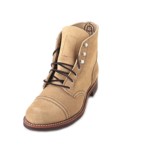 Red Wing Shoes Botas Militares de Piel Mujer, Color Beige, Talla 36 EU