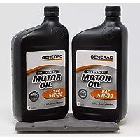 $28 » Generac Full Synthetic Motor Oil 5W-30 SN Quart Bottle Part# 0J5140 (qt) 2-Pack
