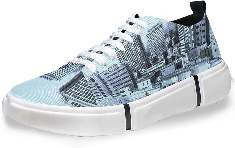 FANTAZIO Peculiar City - Zapatillas de Running para Hombre: Amazon ...