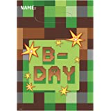 amscan TNT Party! Folded Loot Bags, Birthday, Green, One Size (371778)