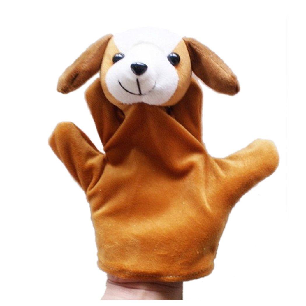 Vanvler Cute Baby Child Zoo Farm Lively Animal Hand Glove Puppet Finger Sack Plush Toy (Dog)