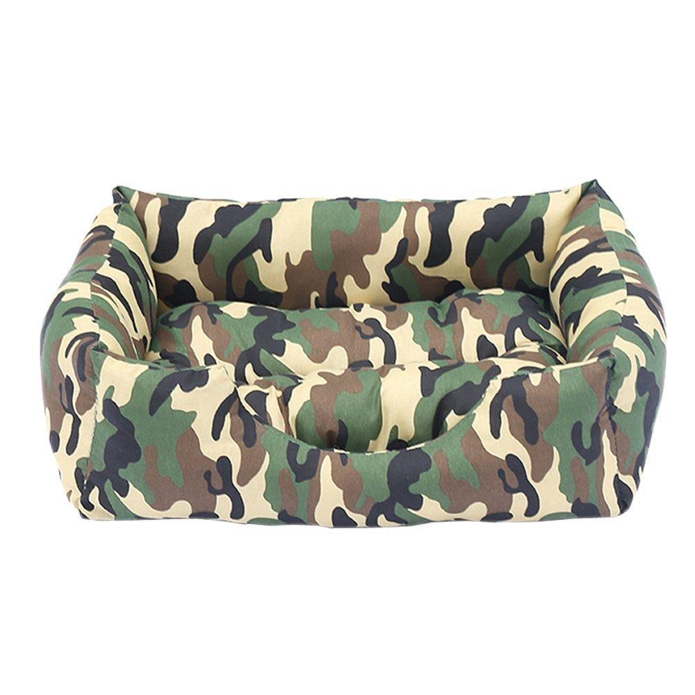 in vendita Xinjiener Tappetino per cani gatti, casetta per per per animali domestici, cuccia rettangolare mimetica con rivestimento esterno lavabile, camo army verde l (58  50  17cm)  qualità garantita