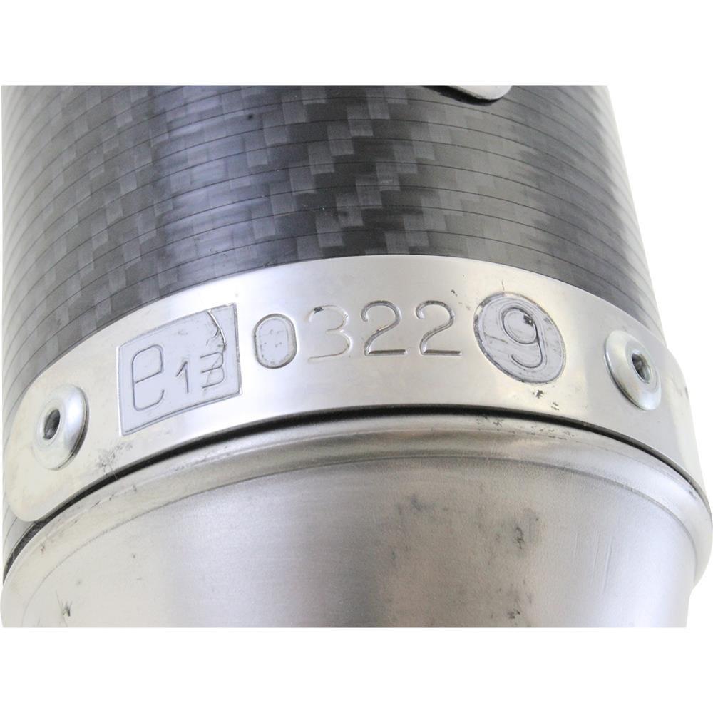 Endschalld/ämpfer//ESD Giannelli mit ABE f/ür Aprilia RS//Tuono 125 Carbon