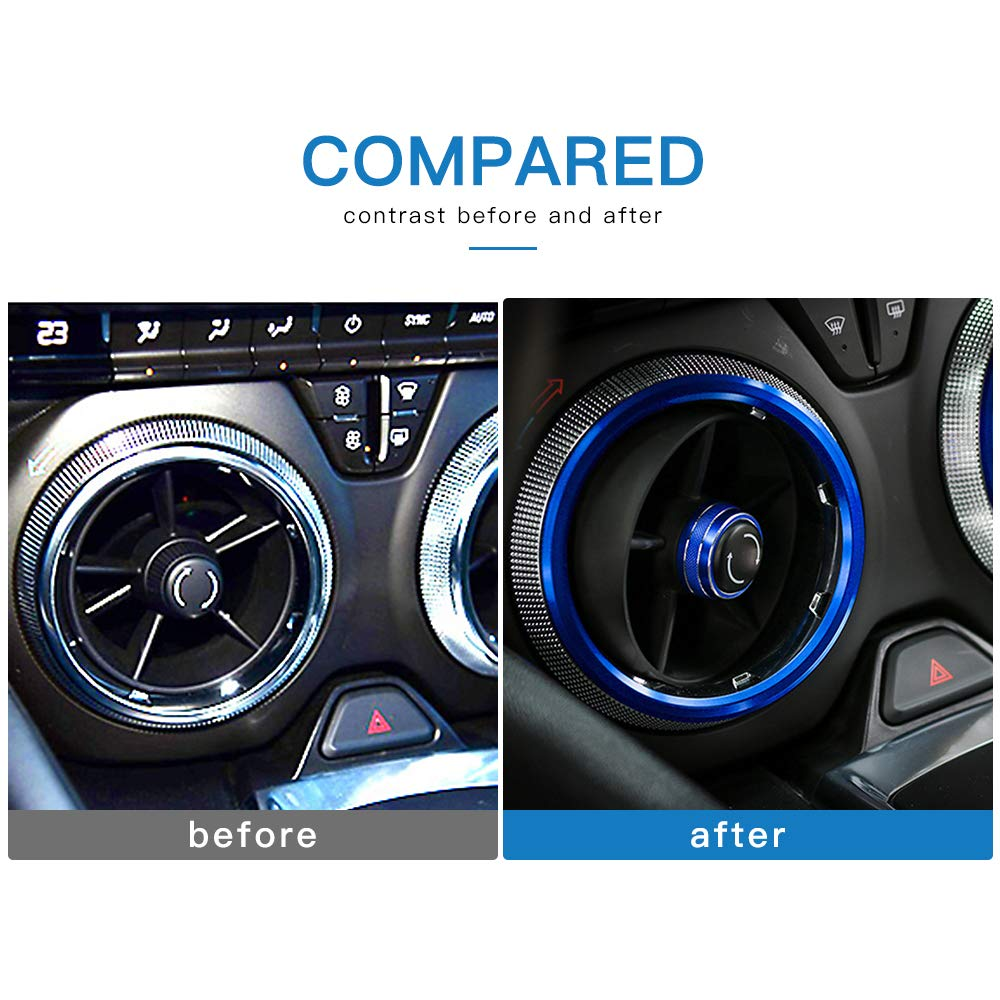 4Pcs AIRSPEED Car Air Conditioning Outlet Vents Cover Trim Decoration Rings for Chevrolet Camaro Accessories 2017+