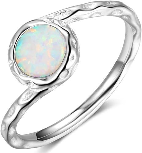 bague solitaire opale