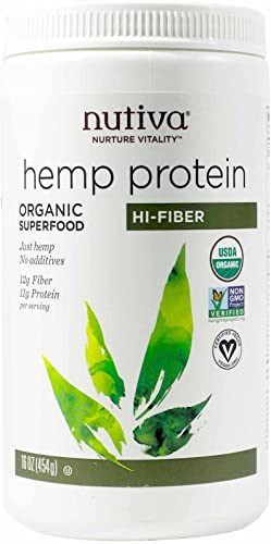 Nutiva Hemp Protein Powder, Organic,16 ounce 454 g