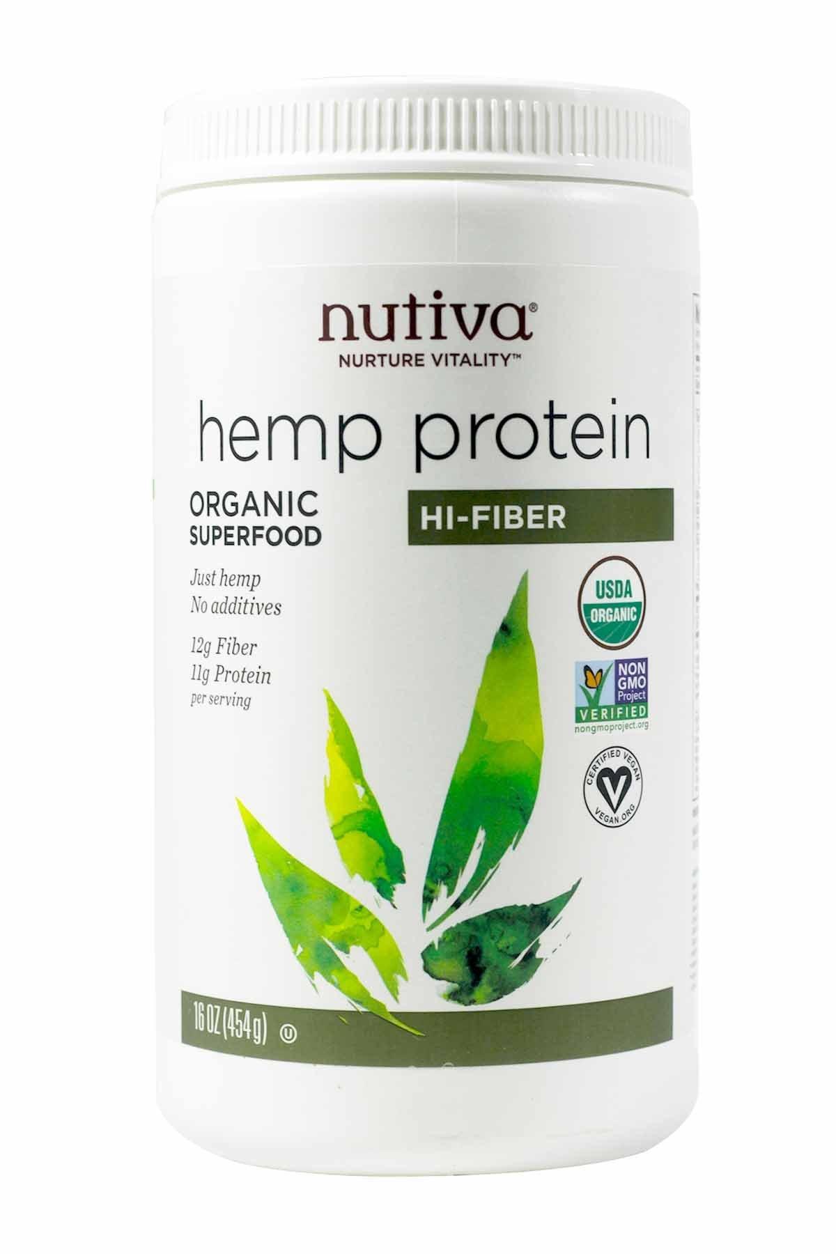 Nutiva Hemp Protein Powder, Organic,16 ounce(454 g) by Nutiva