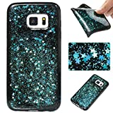 Samsung Galaxy S7 Case, Samsung Galaxy S7 Glitter Case,Cozy Hut 3D Luxury Sky Blue Star Design High Quality Plastic Shell Shockproof Soft Case Cover Flexible Cell Phone Hull for Samsung Galaxy S7 - Blue sky