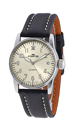 Fortis Aviatis Flieger Lady Automatic Stainless Steel Womens Strap Watch Calendar 621.10.12 L