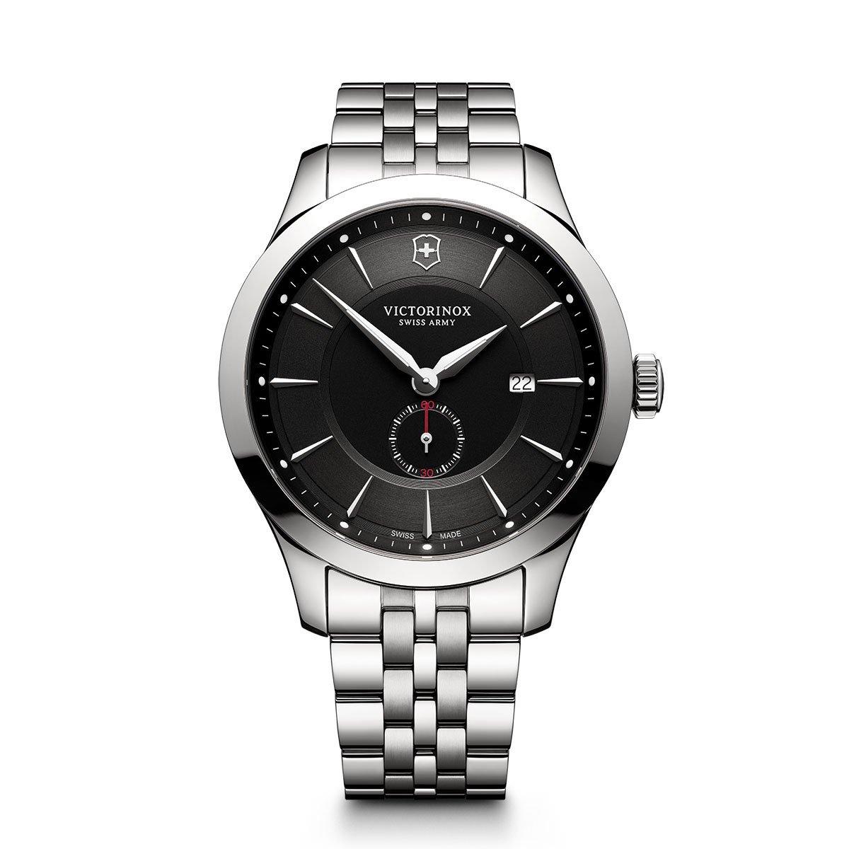 Victorinoxメンズ241711 Allianceアナログディスプレイスイスクォーツシルバー腕時計 Black Dial, Stainless Steel Bacelet B0728D52X5 Black Dial, Stainless Steel Bacelet Black Dial, Stainless Steel Bacelet