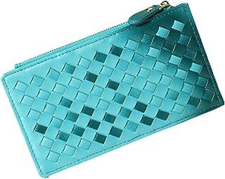 Mode carte de crédit Sac Holder Organizer Wallet, 18 fentes de cartes, Bleu Blancho Bedding