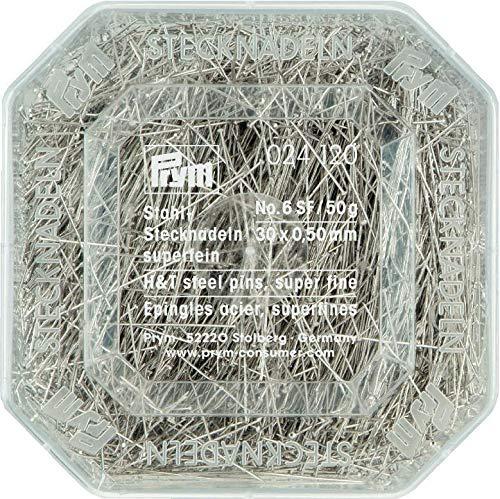 Prym Hard Steel pins 30x0,5 silv.col Silver