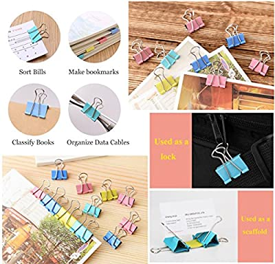 Coideal Medium Metal Binder Paper Clips Clamp/Photo File Document Clip Holder Organizer for Office Home