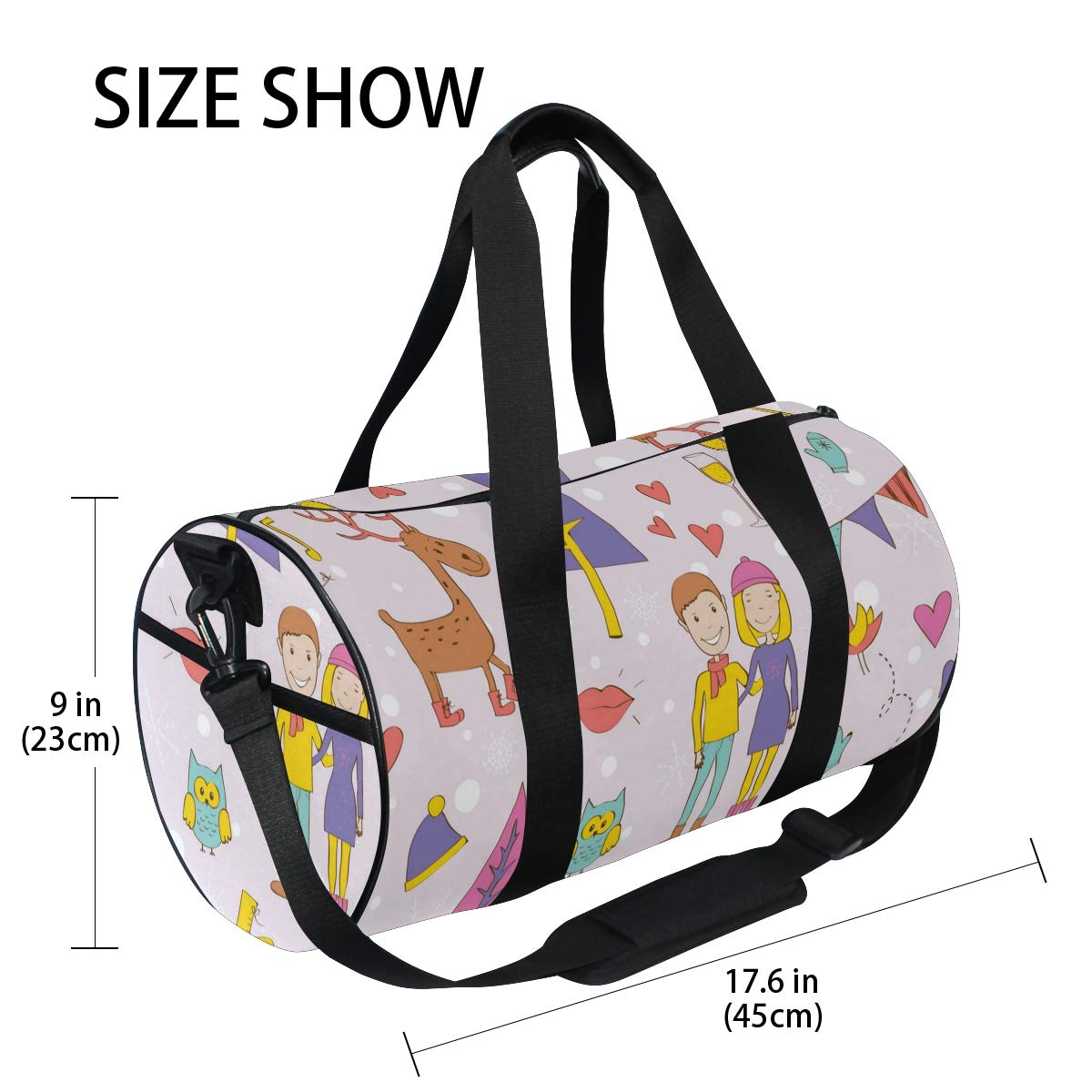 Zen Music CD ImageWaterproof Non-Slip Wearable Crossbody Bag fitness bag Shoulder Bag