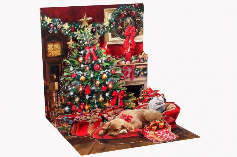 Popshots 3D Pop Fino Biglietto Auguri Di Natale Vacanza Camera (1133) PopShot Studios