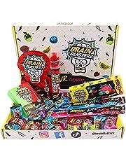 Brain Blasterz Sour Sweets Treat Box - Hard Zure Snoep, Brain Breakerz, Candy Spray, Brain Bitz, Kauwbars & Meer Zure Snoep   Appel, Aardbei, Watermeloen, Cola & Meer   Halloween Sweets Box