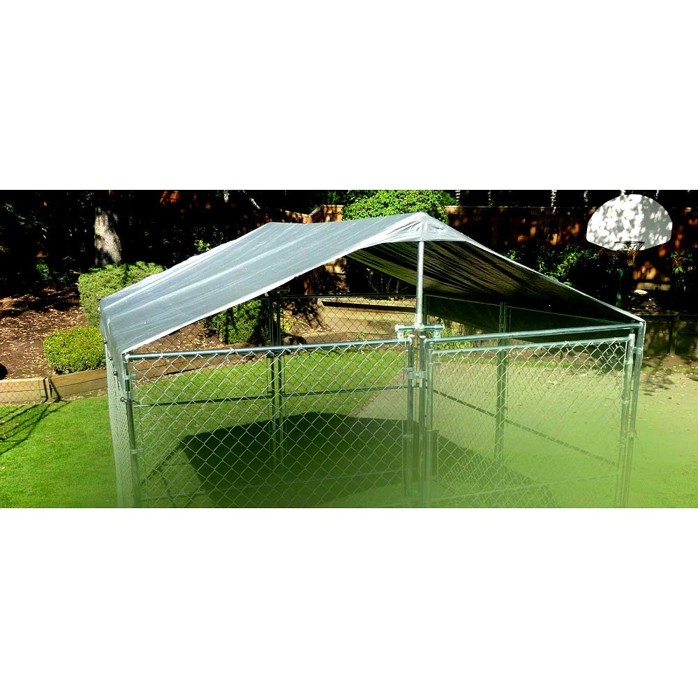 Dog Kennel Outdoor 10 X 10 Cover Extra Large Size Weatherproof Durable and Strong Roof System - Skroutz Deals