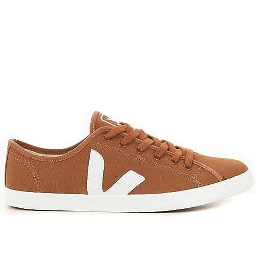 VEJA TAUA 1102 - Zapatillas de deporte de cuero para hombre marrón Camel 40: Amazon.es: Zapatos y complementos