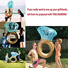 "Giant Inflatable Diamond Ring Pool Float Summer Water Fun Toy for Adult Children in Pool Beach Lake Home 55""x47"""