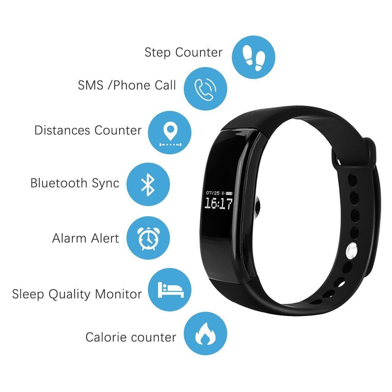smarttwatch Bluetooth 4.0 TKSTAR V66 Smart Band Sensor de ritmo ...