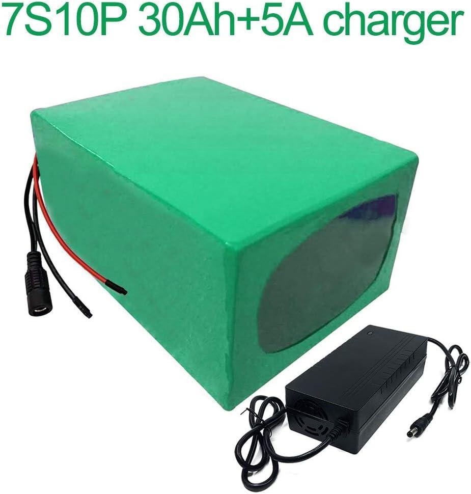Seilylanka con Cargador 5A 24V 30Ah 25.9V 7S10P Batería de Iones de Litio E-Bike Bicicleta eléctrica 195x135x70mm