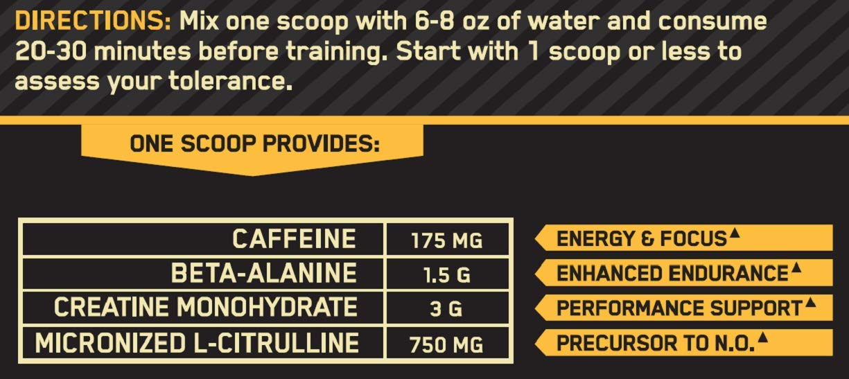 OPTIMUM NUTRITION Gold Standard Pre-Workout with Creatine, Beta-Alanine, and Caffeine for Energy, Keto Friendly, Blueberry Lemonade, 30 Servings by Optimum Nutrition (Image #4)