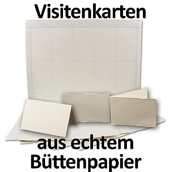 100 Stück Visitenkarten Aus Echtem Büttenpapier Zum Selbstdrucken Auf 10 A4 Bogen