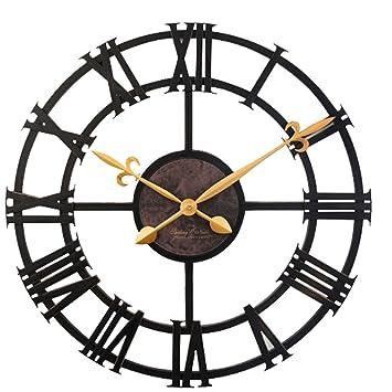 FMXC - Mesa Colgante Imitación De Hierro Arte Reloj Digital Romana Europea Industrial Retro Reloj De Pared Creativa Dormitorio Dormitorio Reloj: Amazon.es: ...