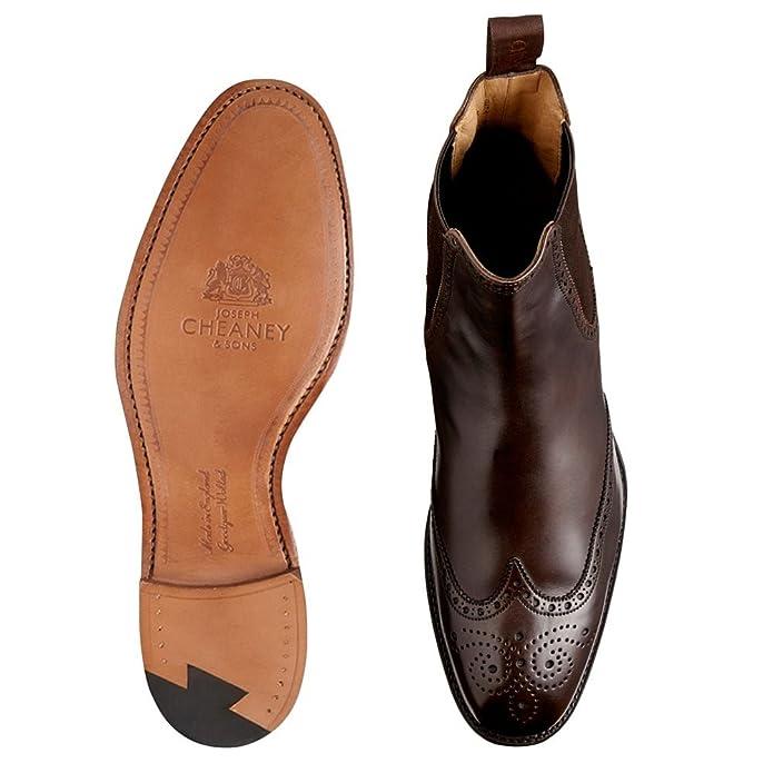 5745861e3db Albert ll Chelsea Boot in Burnished Mocha Calf Leather: Amazon.co.uk ...