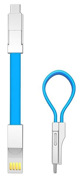 innoGadgets Llavero Cargador USB magnético (3in1, Ocean Blue ...