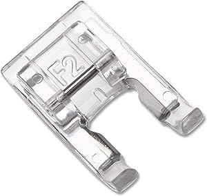 DREAMSTITCH 200137003 7mm Snap On Open Toe Satin Stitch Presser Foot for for Singer Janome,Necchi,Pfaff,Husqvarna Vking Sewing Machine ALT:832427103-200137003