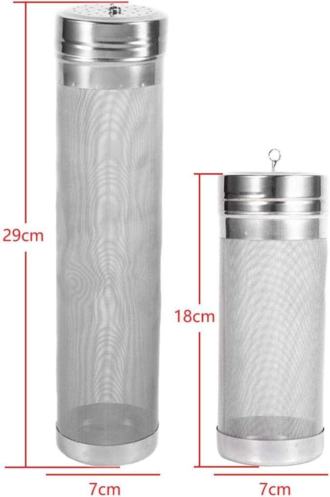 Basico 300 Micron Stainless Steel Hop Spider Mesh Beer Filter For Homemade Brew Coffee Hopping 7x18cm 7x29cm