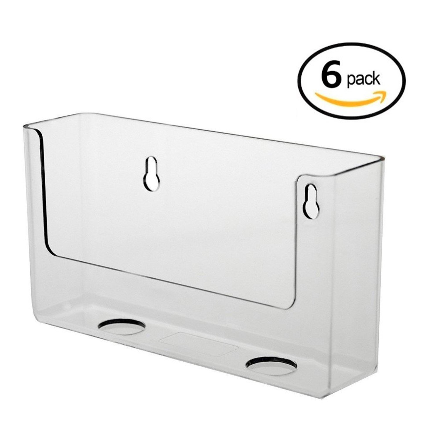 Source One 6 Pack Clear Postcard Holders Displays 6-Inch Wide (S1-postcard-6pb)