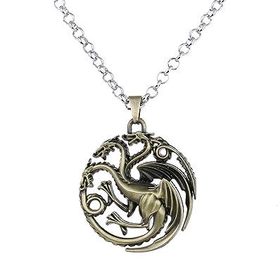 lureme Juego de Tronos Inspirado Targaryen Colgante Traje Collar ...
