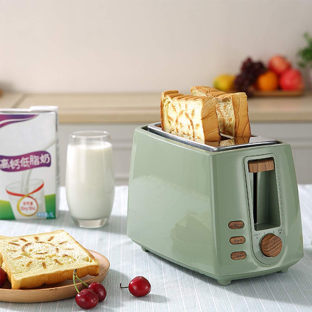 Gyswshh 2-slice Automatic Electric Toaster, Breakfast Maker,Household Bread Toast Machine Green by Gyswshh (Image #3)