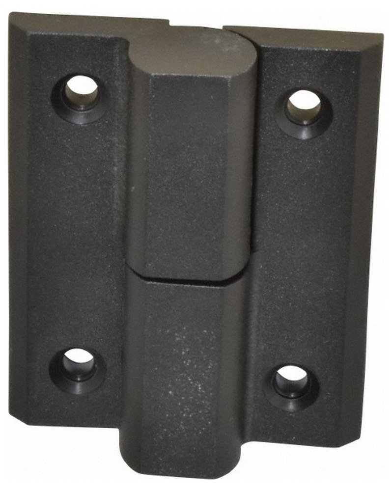 2-59/64'' Long x 2-23/64'' Wide x 0.275'' Thick, Fiberglass Reinforced Polyamide Lift-Off Hinge, Black Finish, 2 Knuckles, 4 Holes, 0.787'' Pin Diam