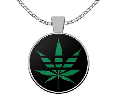 Amazon Weed Lovers Necklace Adihash Pot Leaf Rastafarian
